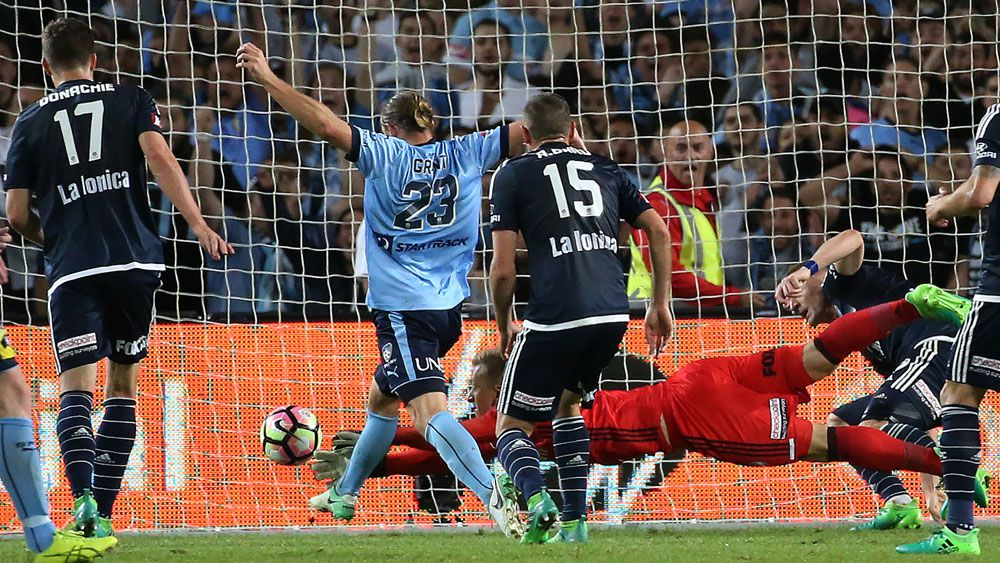 Sydney FC win the A-League grand final against Melbourne Victory after penalty shootout