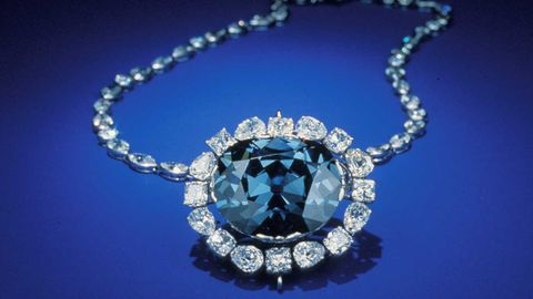 This undated photo made available by the Smithsonian Institution shows the Hope Diamond. (AAP)
