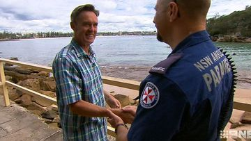 Heart attack survivor thanks paramedics who saved his life