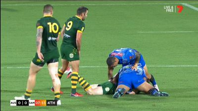 Holmes scores five as 'Roos pump Samoa