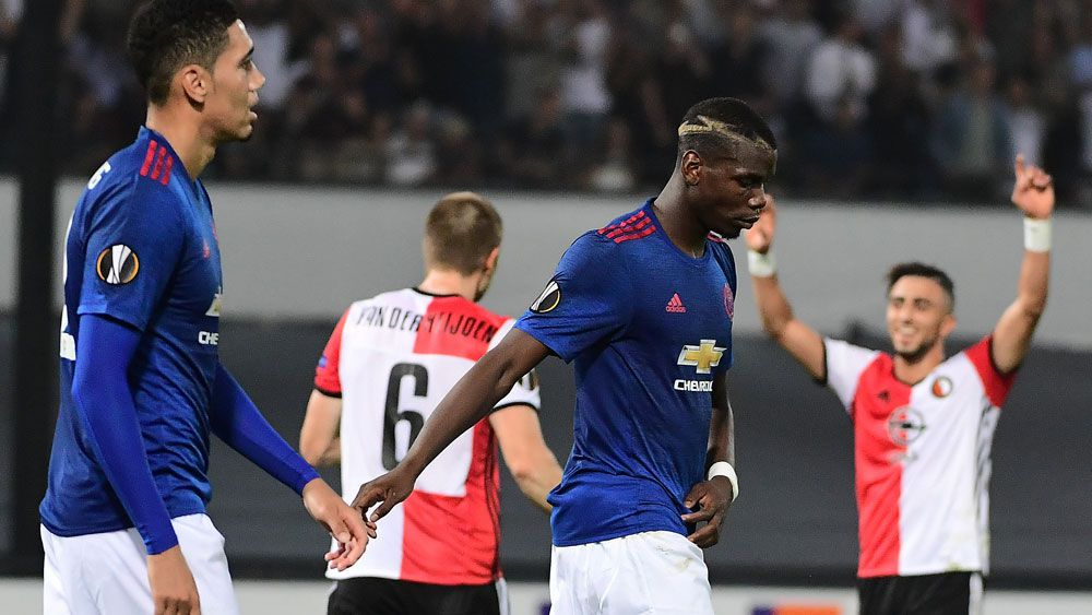 Manchester United have lost their opening game of the Europa League. (AFP)