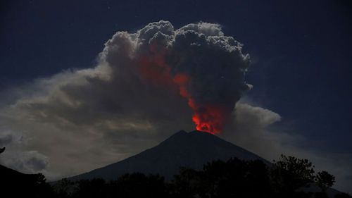 Mount Agung erupted in 2017 causing major disruption.