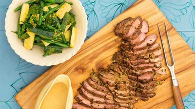"""<a href=""""http://kitchen.nine.com.au/2017/02/07/15/27/pohs-butterfly-lamb-leg-with-anchovy-cream-sauce"""" target=""""_top"""">Poh's butterfly lamb leg with anchovy cream sauce</a><br> <br> <a href=""""http://kitchen.nine.com.au/2017/02/07/16/00/tv-chef-pohs-ultimate-time-saving-tip-for-a-lamb-roast"""" target=""""_top"""">RELATED: TV chef Poh's genius time-saving lamb roast tip</a>"""