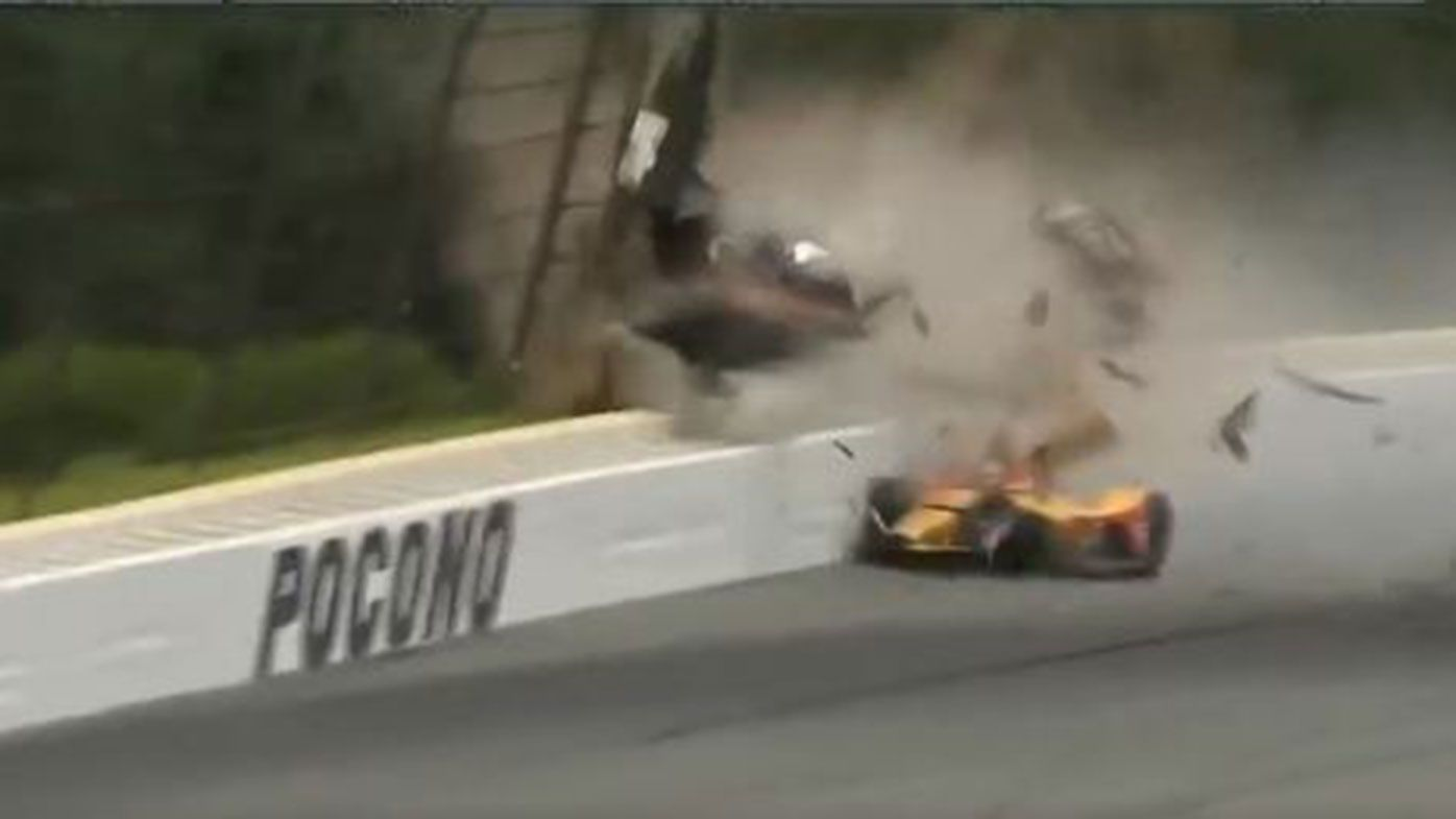 Robert Wickens flown to hospital after terrifying IndyCar crash