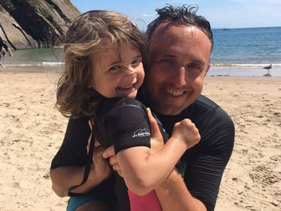 Dad's warning about first aid training after daughter chokes on a coin