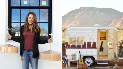 Inside an awesome vintage camper makeover full of retro details