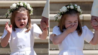 Princess Charlotte at the Royal Wedding, May 2018
