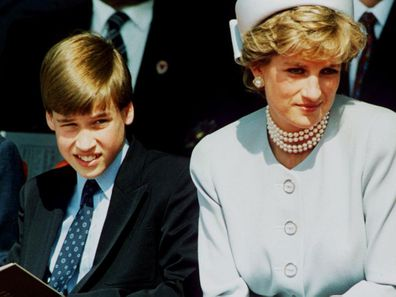 Prince William and Princess Diana in 1995.