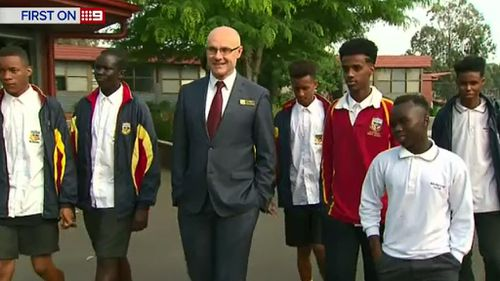 The boys and their school principal. (9NEWS)