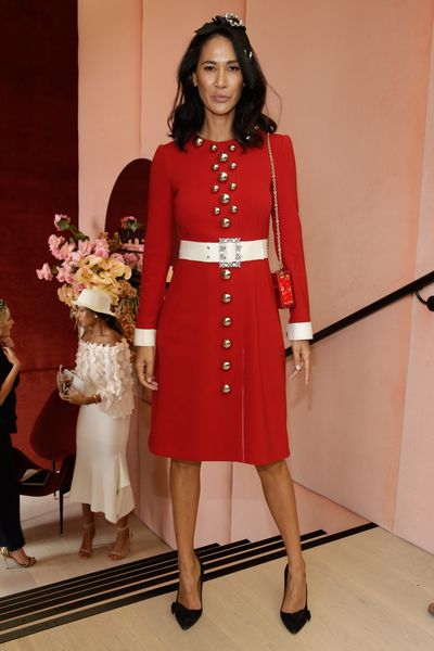Lindy Klim in Dolce & Gabbana at the Melbourne Cup