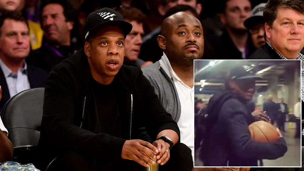 Jay-Z walks away with historical NBA memento