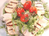 Barbecued cuttlefish with haloumi and lemon lentil salad