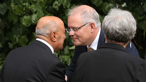 Scott Morrison gets a hongi welcome in Auckland.