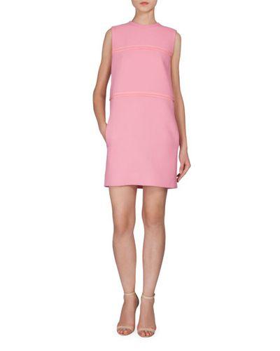 "Victoria by Victoria Beckham shift, $1090 at <a href=""http://www.neimanmarcus.com/en-au/Victoria-by-Victoria-Beckham-Sleeveless-Shift-Dress-W-Pockets-Pink/prod188690114_cat43810733__/p.prod?icid=&searchType=EndecaDrivenCat&rte=%252Fcategory.service%253FitemId%253Dcat43810733%2526pageSize%253D29%2526No%253D29%2526Ns%253DPCS_SORT%2526refinements%253D727%252C4294847200%252C4294847372%252C4294847473&eItemId=prod188690114&cmCat=product"" target=""_blank"">Neiman Marcus</a><br />"
