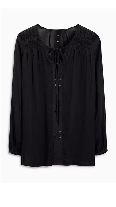 4. A summer-black blouse