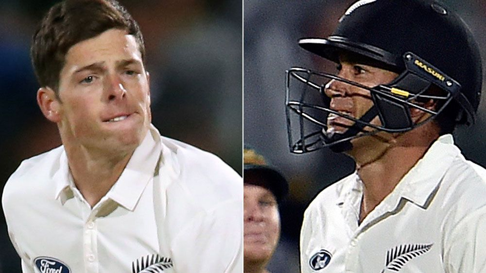 Mitchell Santner and Ross Taylor. (AAP)