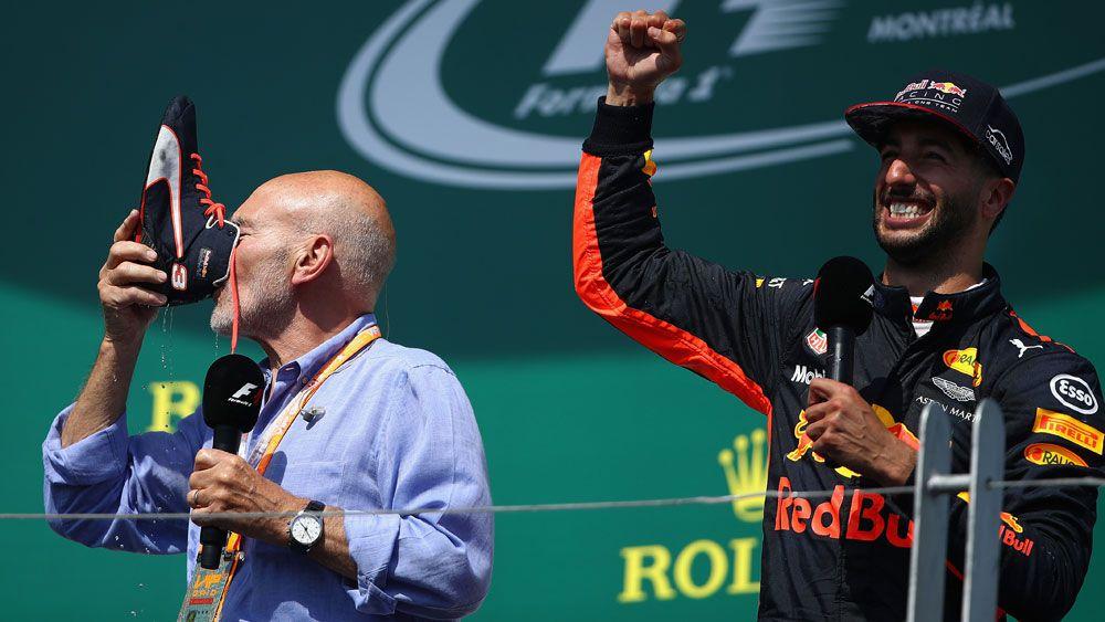 Patrick Stewart and Daniel Ricciardo.