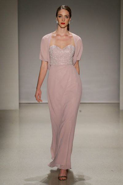 <p>Pretty in pink</p> <p>Soft pinks are for those who believe in unconditional love and understanding. Even after hearing about the Bucks' night.</p> <p>Alfred Angelo, Spring 2017, New York Bridal Fashion Week with Disney Weddings</p>