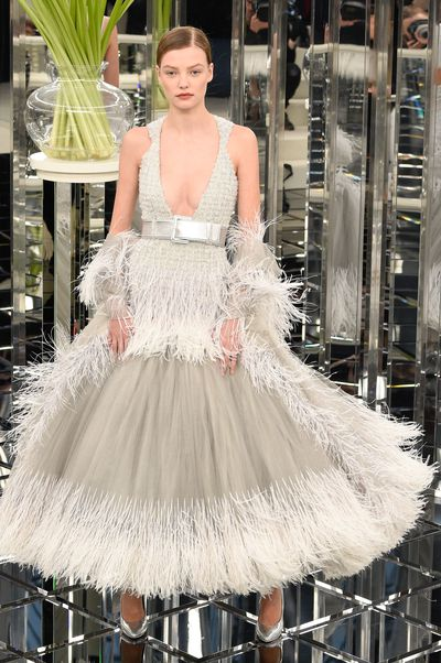 <p>Roos Abels for Chanel Haute Couture Spring 2017. Full ball gown skirts that swish and swirl.</p> <p>&nbsp;</p>