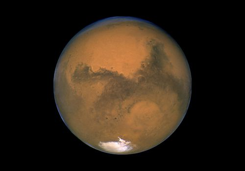 Mars photographed by the Hubble Space Telescope on the planet's closest approach to Earth in 60,000 years. (File)