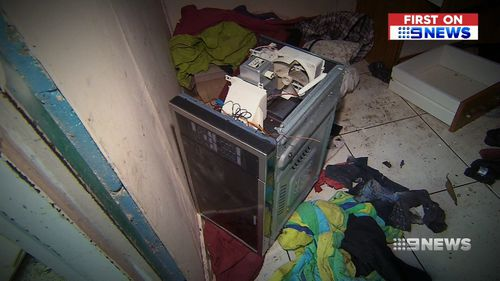 The extensive damage has caused a lot of problems for the landlord. Image: 9News