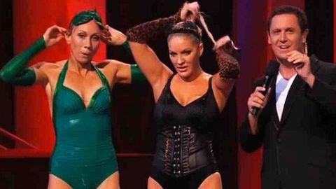 Lingerie or swimsuit? Brynne Edelsten turns racy Catwoman on <i>Celebrity Splash</i>