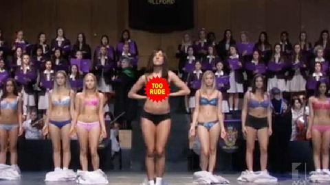 Too far? Ja'mie finale shocks Australia with breast exposure