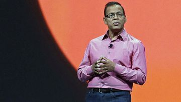 In this May 15, 2013, file photo, Amit Singhal, senior vice president and software engineer at Google Inc., speaks at Google I/O 2013 in San Francisco.
