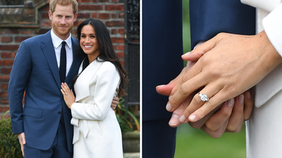 Meghan's engagement ring incorporated jewels from Diana's personal collection.