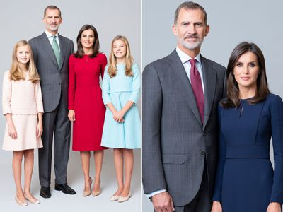 New portraits released of Spain's royal family