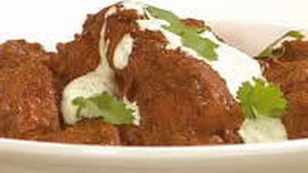 Pork Vindaloo with Cucumber Raita - DAIRY DELICIOUS