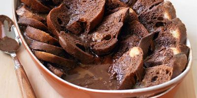 """Recipe:<a href=""""http://kitchen.nine.com.au/2016/05/19/12/15/chocolate-bread-butter-pudding"""" target=""""_top"""" draggable=""""false"""">Chocolate bread and butter pudding</a>"""