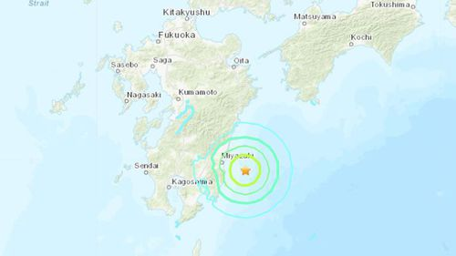 The earthquake struck in south-western Japan.