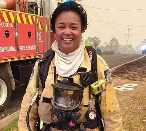 Edwina Illman is a volunteer firefighter in NSW.