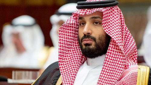 Saudi Crown Prince Mohammed bin Salman attending the inauguration of the Shura Council new session, in Riyadh, Saudi Arabia.