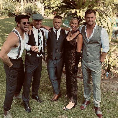Liam, Craig, Luke, Leonie and Chris Hemsworth