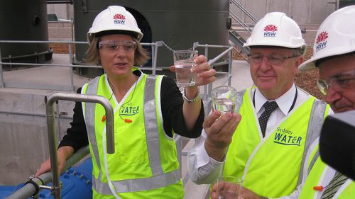 Then-Premier Kristina Keneally at the opening of the desalination plant in 2010.