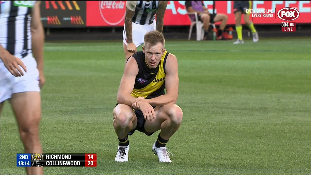 Riewoldt injures wrist in marking contest