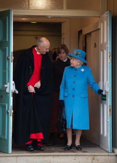 Her Majesty leaves St Paul church on Sunday
