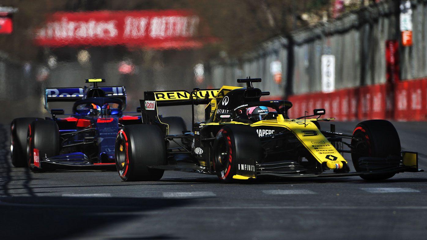 Daniel Ricciardo cops penalty after reversing into Daniil Kvyat at Azerbaijan GP