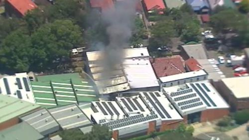 Smoke billowing from the factory. (9NEWS)