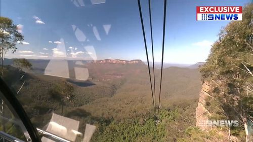 The ride offers breathtaking views of Katoomba and the surrounding bush.