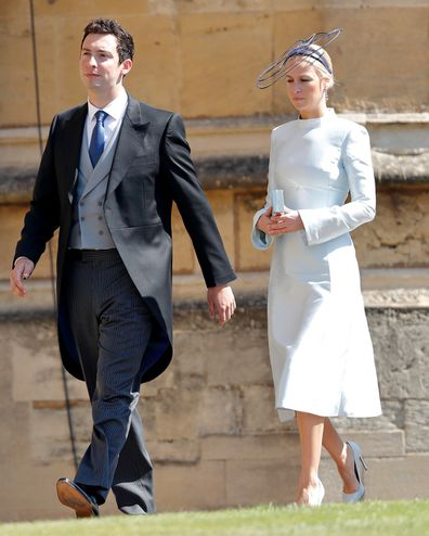 Michael Hess and Misha Nonoo attend the royal wedding in 2018.