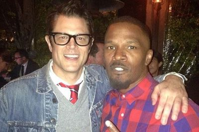 @iamjamiefoxx: Pre-party! J Knoxville x J Foxx. @Pharrell party. Funny movie soon?!