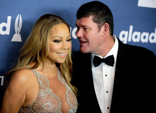 Mr Packer was engaged to pop songstress Mariah Carey for a short period before their acrimonious split. (AAP)