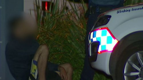 A man is arrested in the area. (9NEWS)