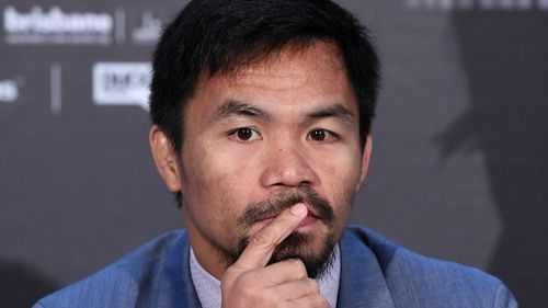 Horn will take on boxing legend Manny Pacquiao. (AAP)