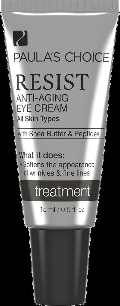 "<a href=""http://www.paulaschoice.com.au/shop/skin-care-categories/targeted-treatments/_/Resist-Anti-Aging-Eye-Cream"" target=""_blank"">Paula's Choice Resist Anti-Ageing Eye Cream, $55.</a>"