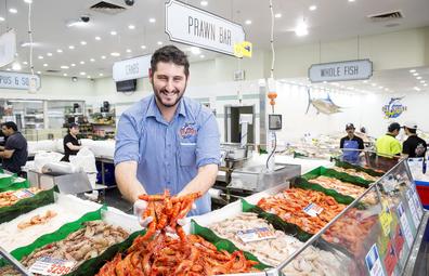 Sydney Fish Markets prawn bar