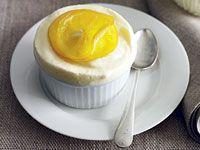 Frozen lemon soufflés